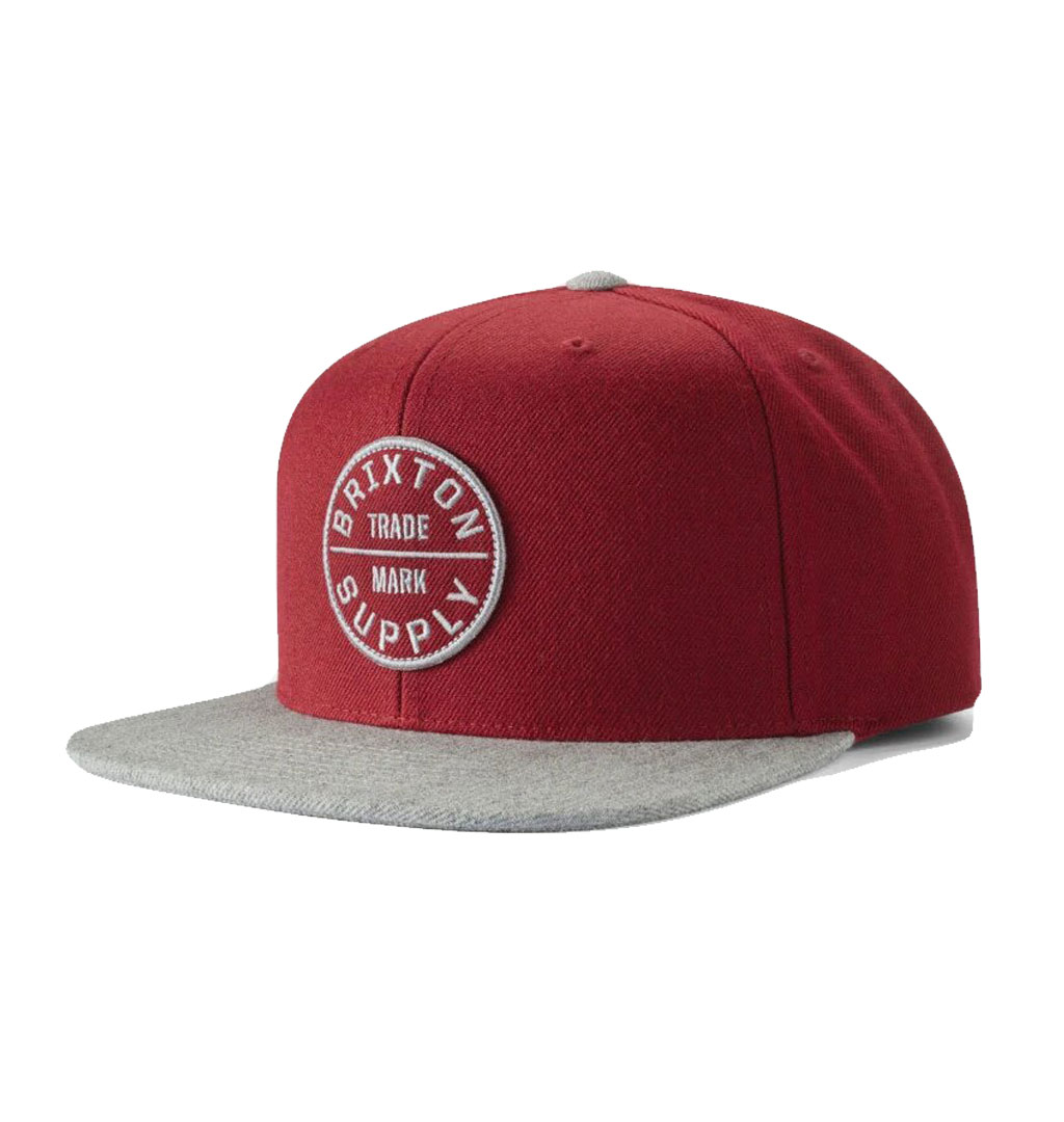 Brixton - Oath III Snapback Cap - Dark Brick/Heather Grey