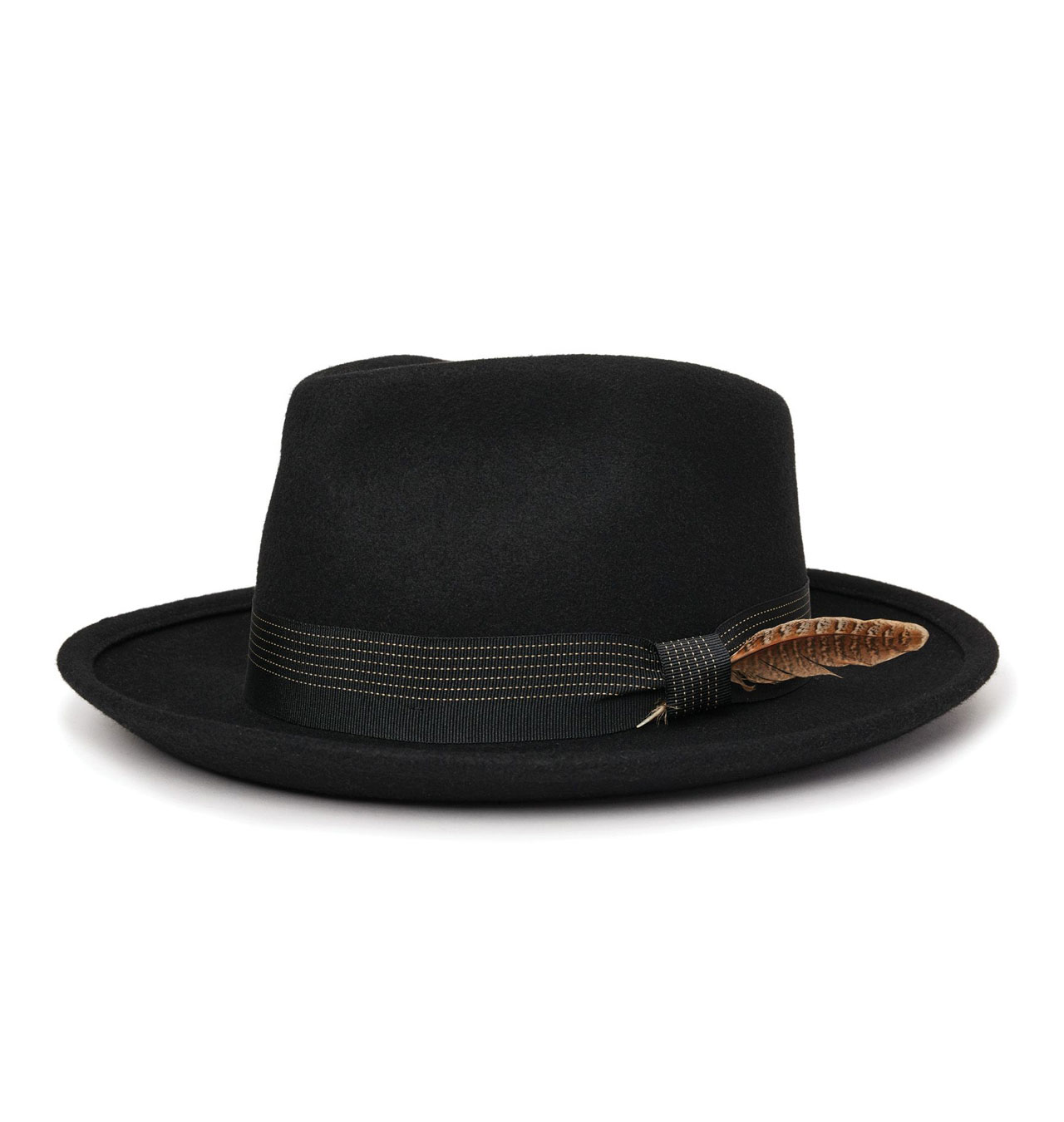 Brixton---Swindle-II-Fedora-Hat---Black
