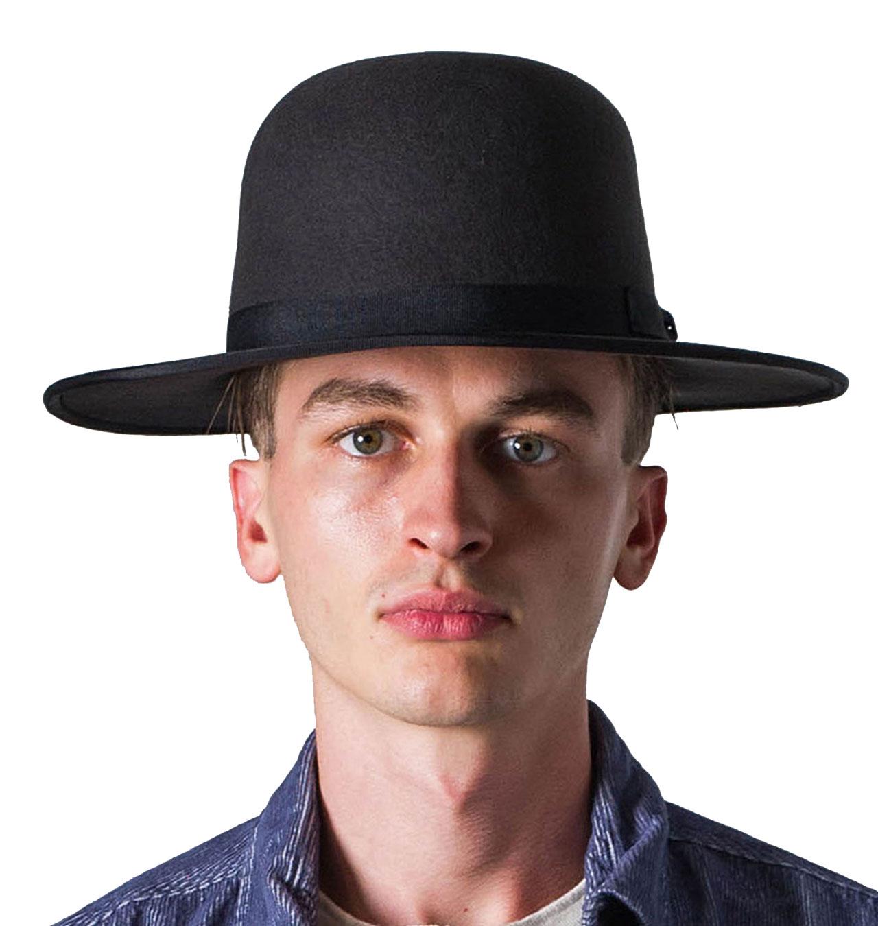 Brixton - Sonoma Open Crown Hat - Washed Black a89630fa29e