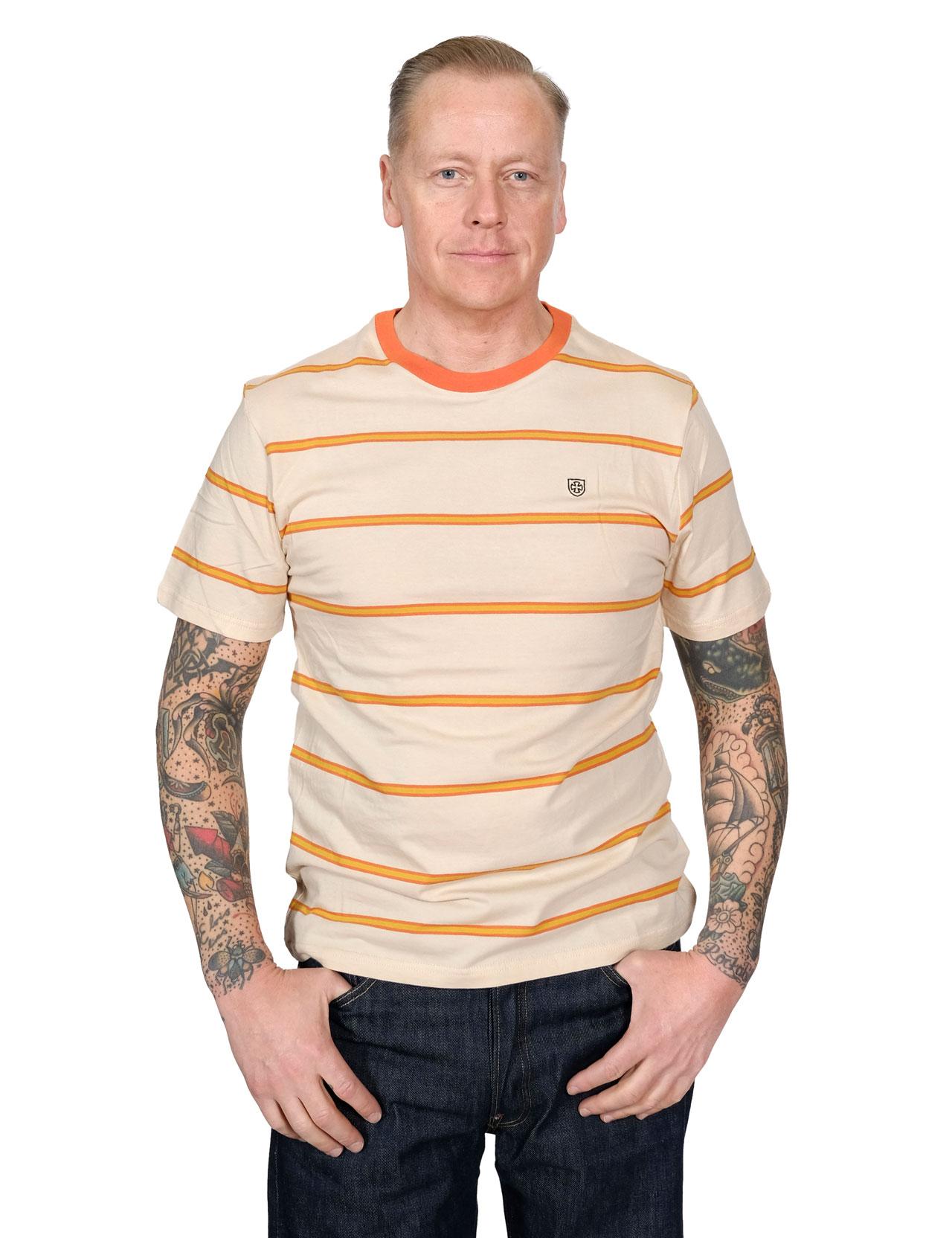 Brixton x Independent Deputy Knit S//S T-Shirt Tan Orange