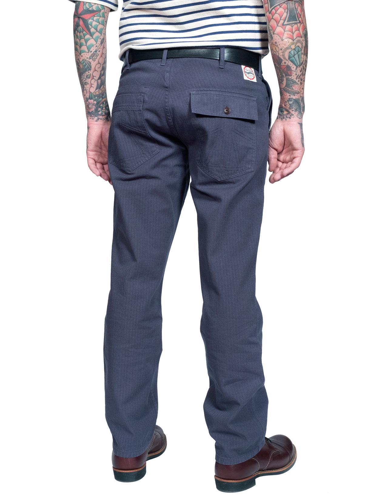 Eat Dust - Deck Fatigue Pant HBT - Peacoat Blue 371363d166a