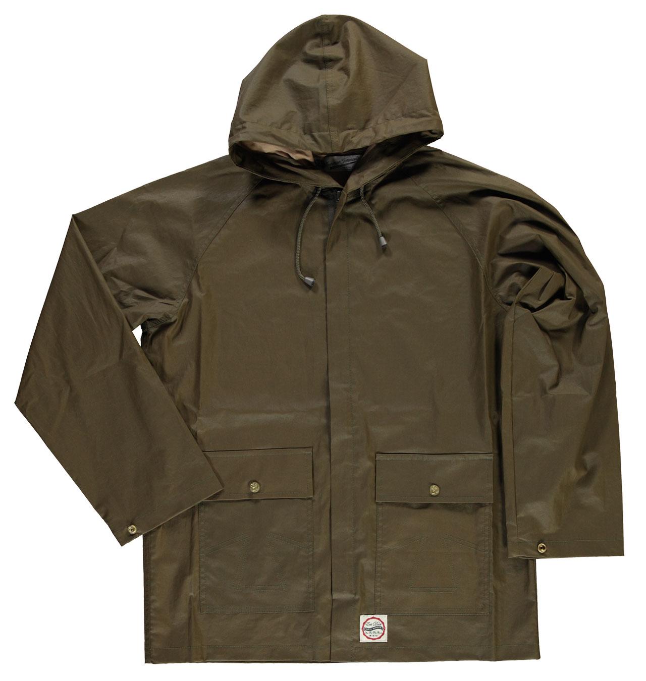 2c007fabf9a Eat Dust - Fisherman Jacket Waxed - Dark Olive
