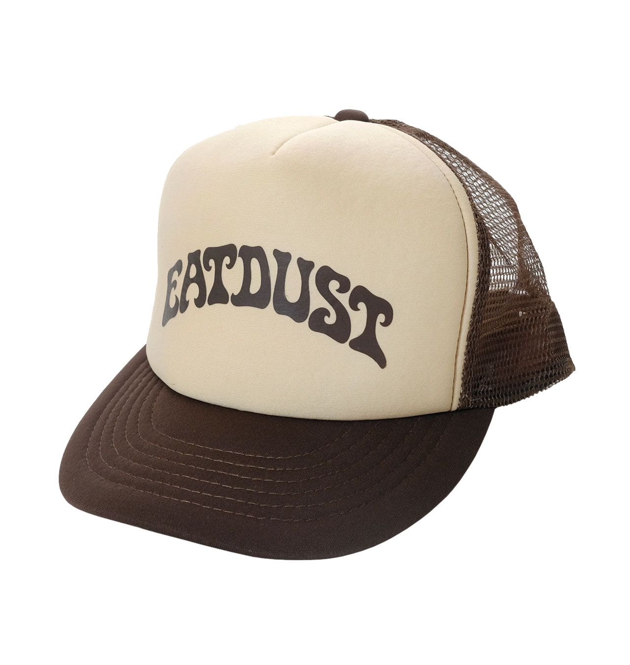 Eat Dust - Lava Logo Trucker Cap - Brown/Beige