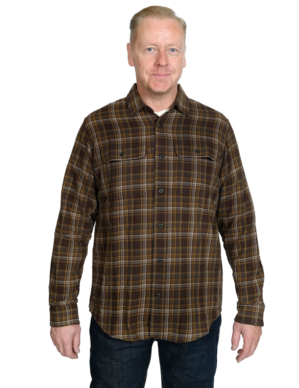 Filson---Scout-Flannel-Shirt---Brown-Tan-Otter-Green-Plaid-81235