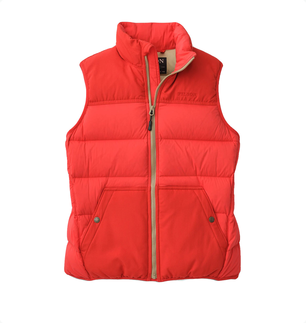 Filson---Womens-Featherweight-Down-Vest---Bright-Red-1
