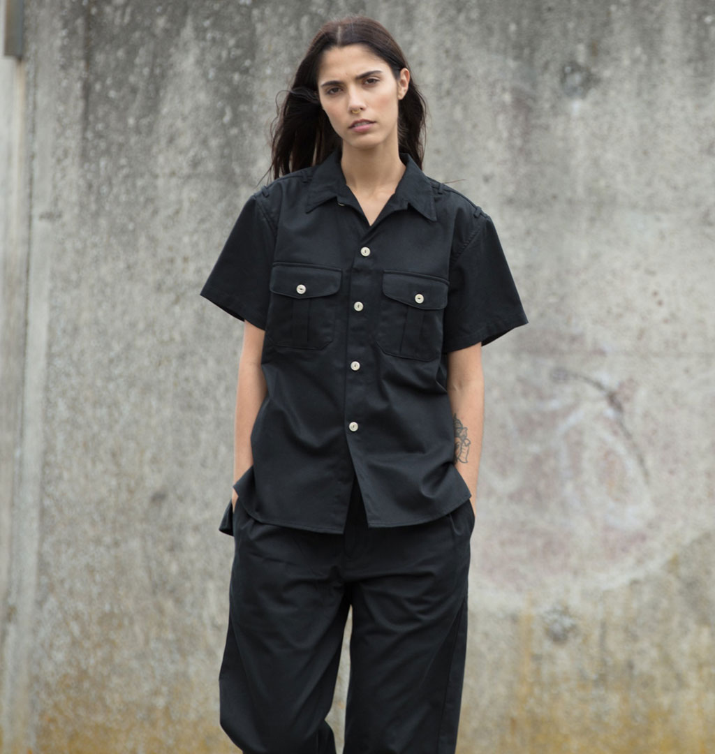 Girls Of Dust - Cuban Shirt Como - Black