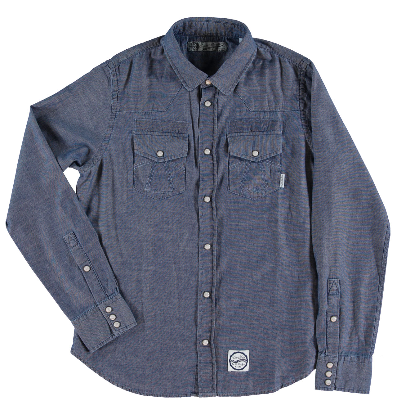 Girls Of Dust - Womens Western Shirt Chambray