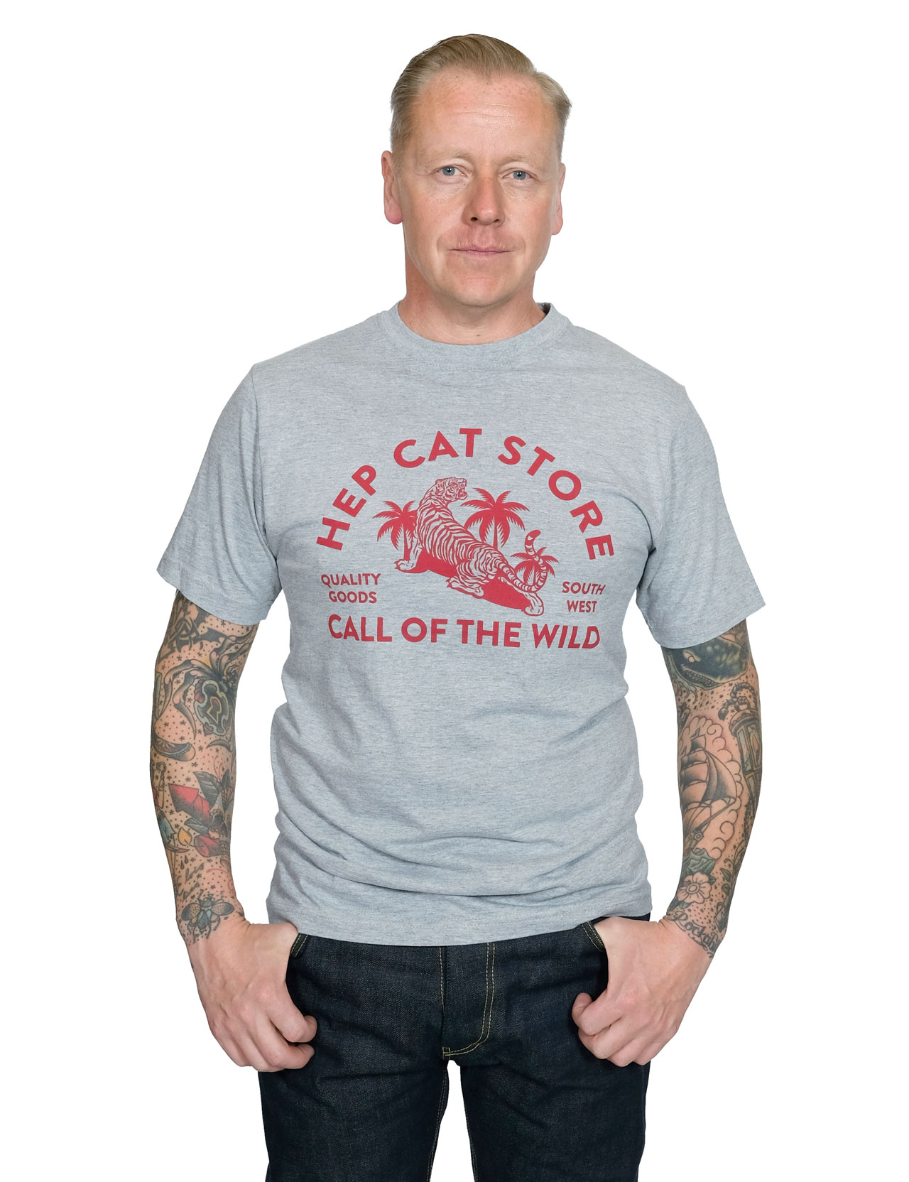 HepCat - Call Of The Wild Tee - Oxford Grey