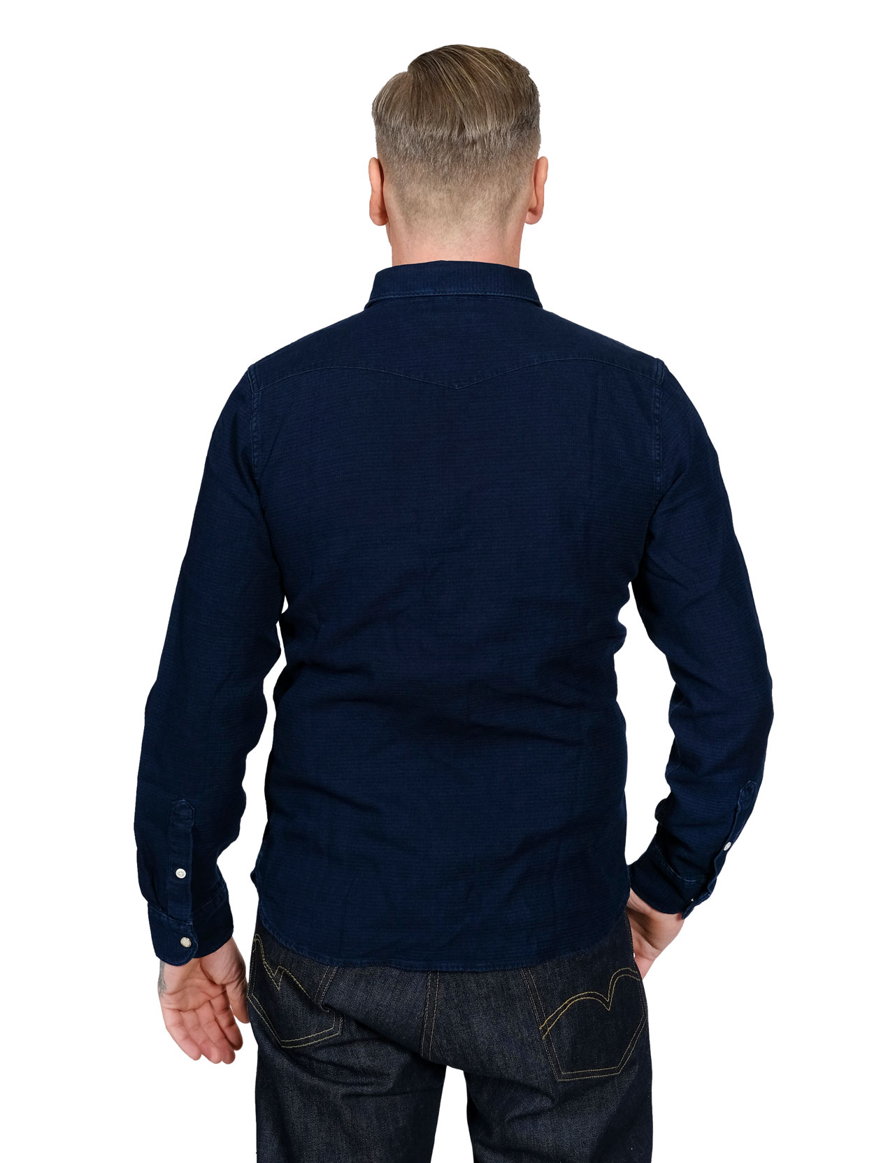 Lee - 101 Premium Western Shirt - Indigo 059164951dabb