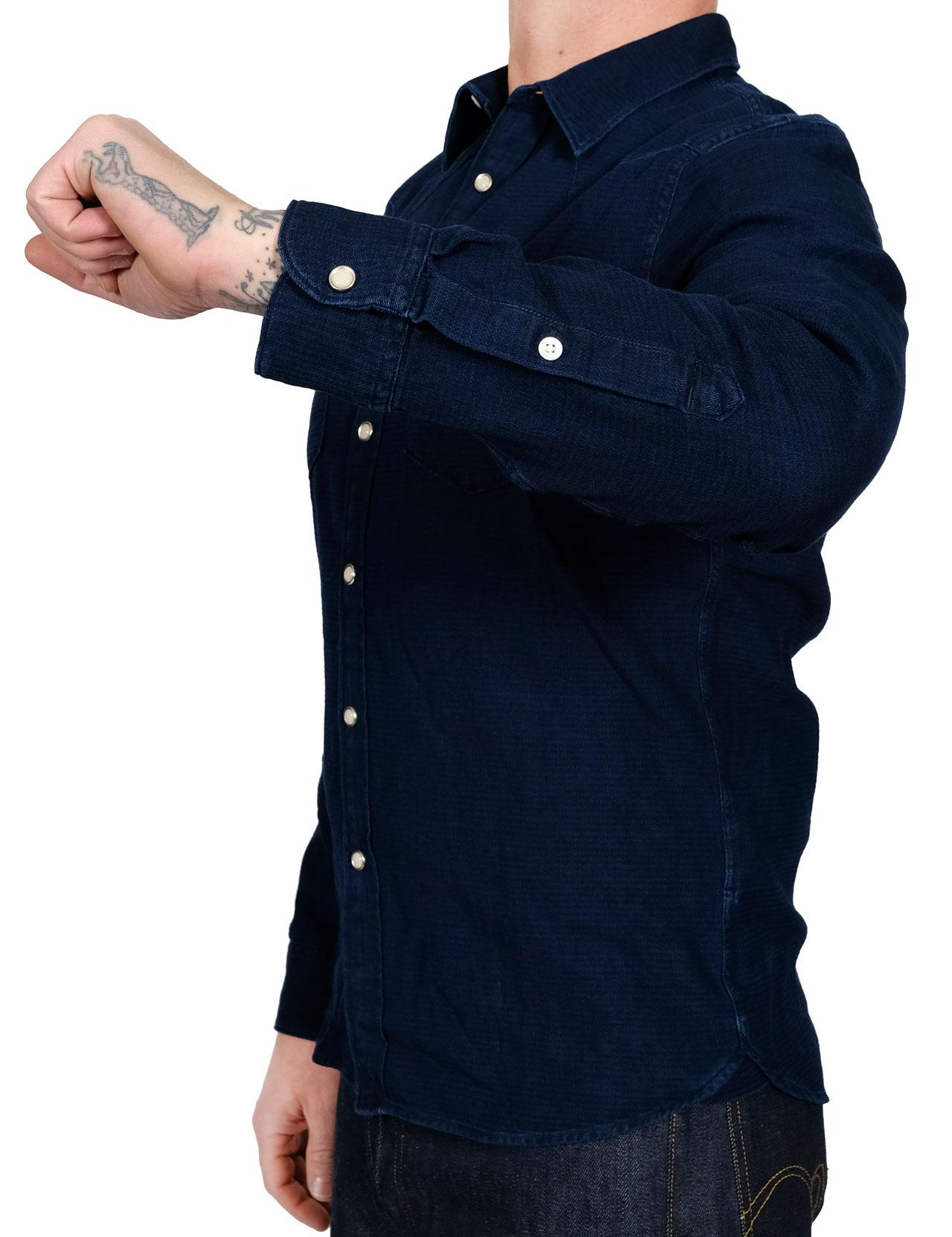 43b2efd2 Lee - 101 Premium Western Shirt - Indigo