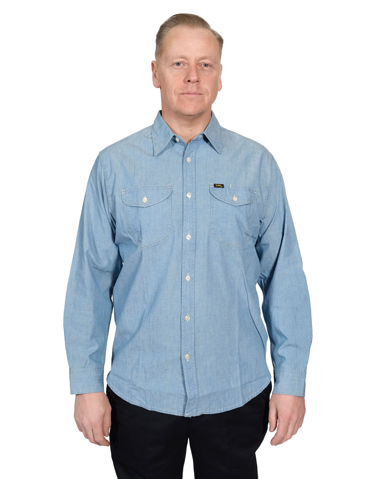 9266e2e0ba Lee - 101 Worker Shirt Selvage Chambray - Washed