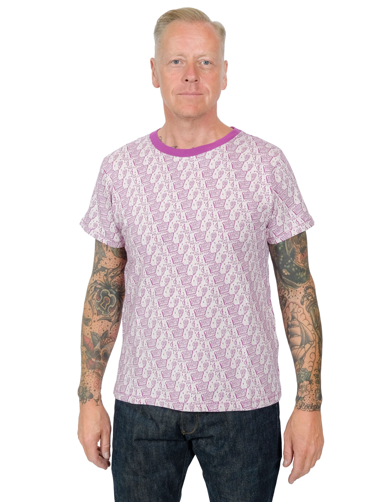 Levis Vintage Clothing - Earth Graphic Tee - Purple
