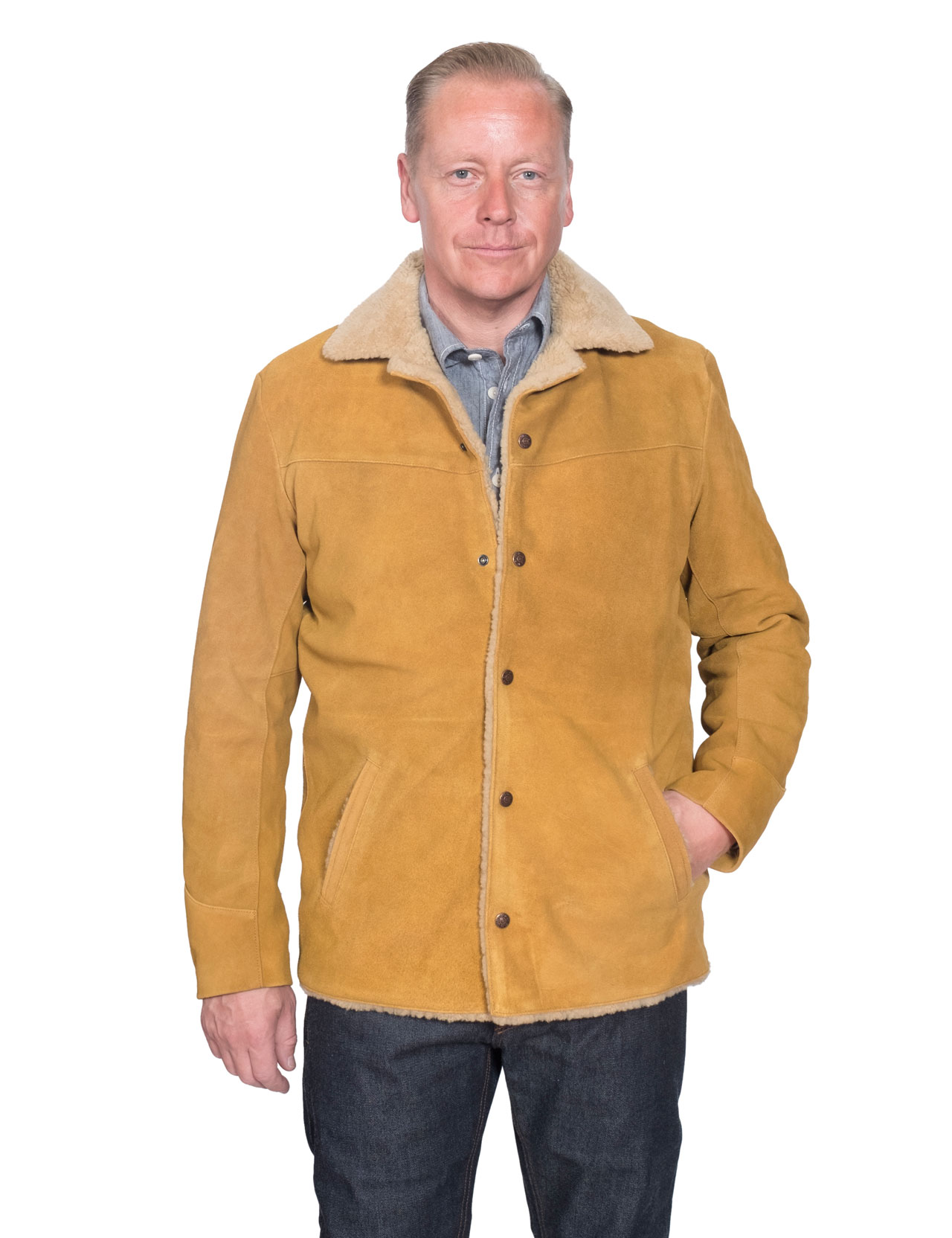 9caa22f5 Levi´s Vintage Clothing - Suede Sherpa Jacket - Tan