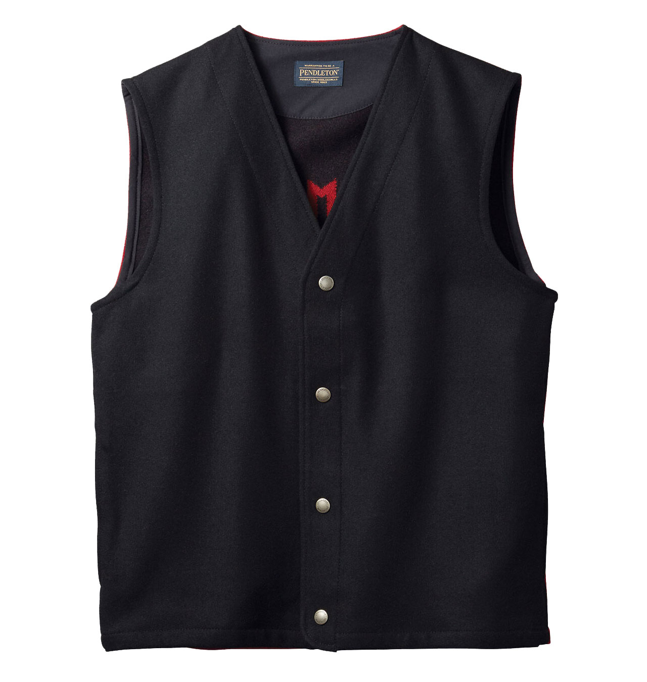 Pendleton---Chief-Star-Vest---Black-Red-21