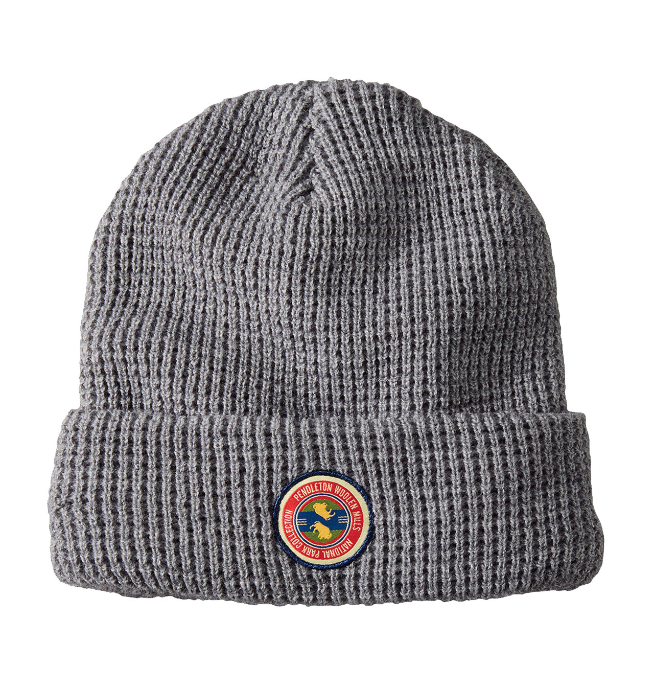 Pendleton - National Park Patch Waffle Beanie - Light Grey Heather