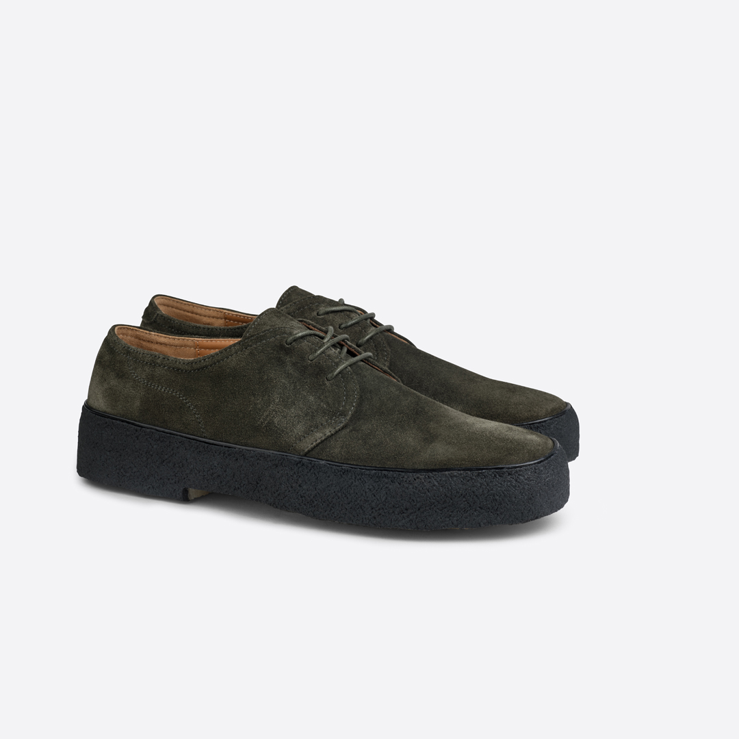 Playboy - Original Classic Shoe - Olive Green Suede
