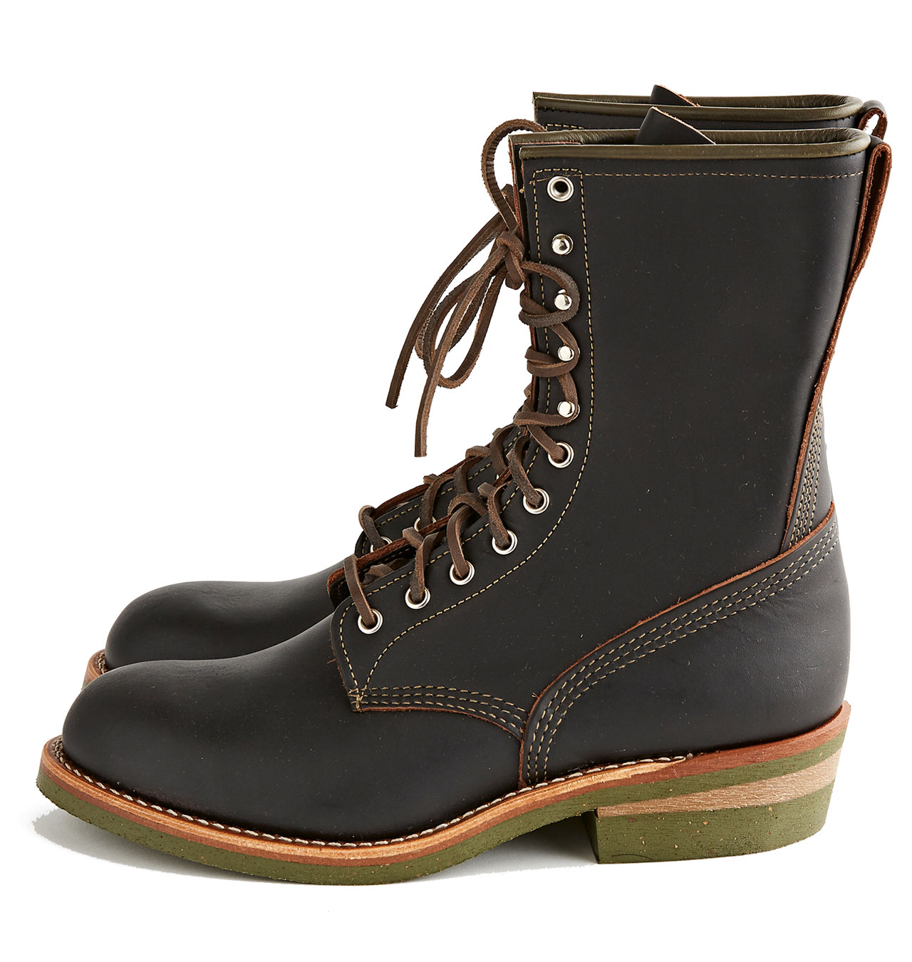 Red Wing Shoes x Indigofera No 4328 Climber Boot - Black Prairie Leather