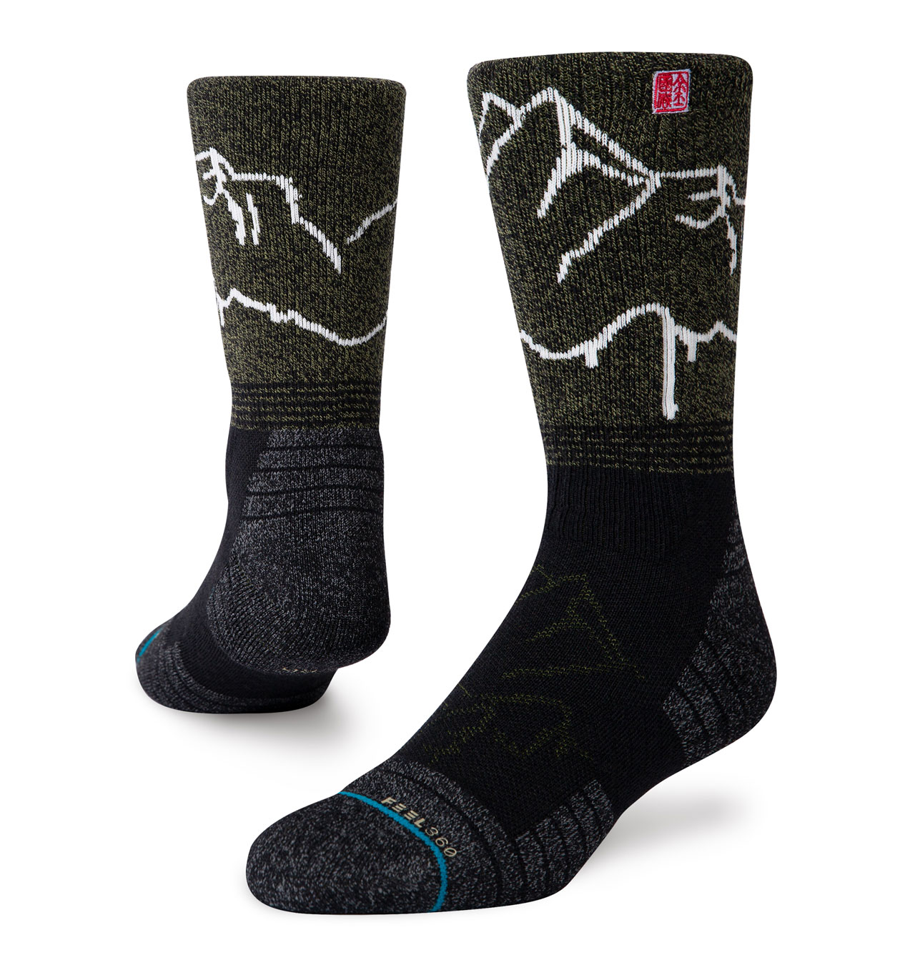 Stance - Feel360 Hike Garhwal Crew Socks - Green