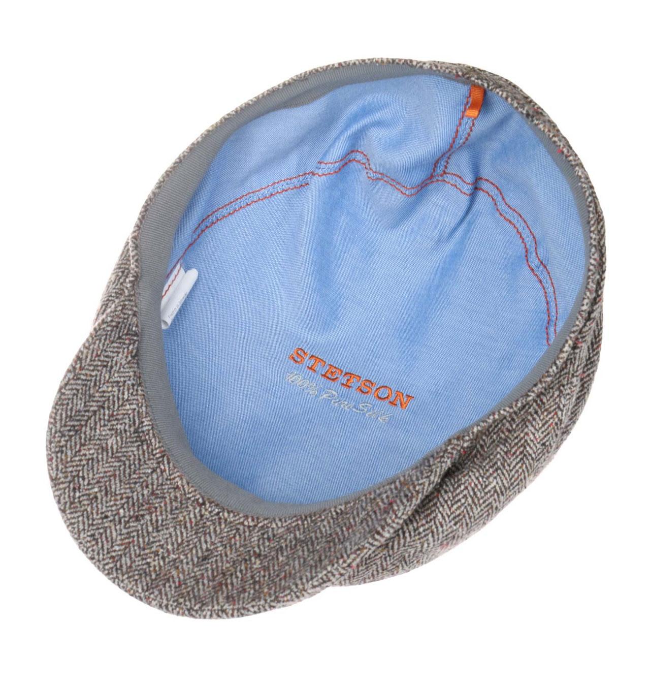 03c53f21140cf Stetson - Belfast Silk Flat Cap - Anthracite