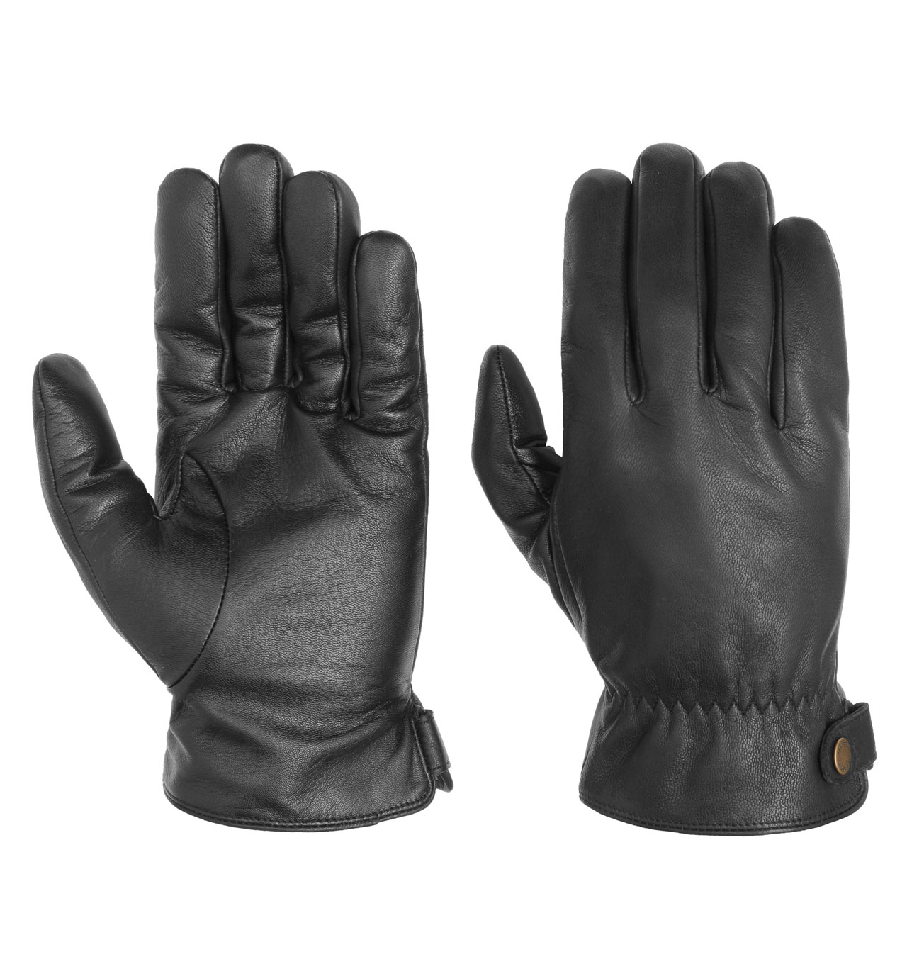 Stetson - Conductive Leather Gloves - Black