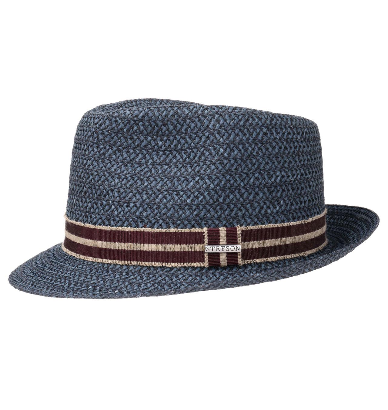 ffc09fbbb26f Stetson - Fritch Fedora Straw Hat - Navy
