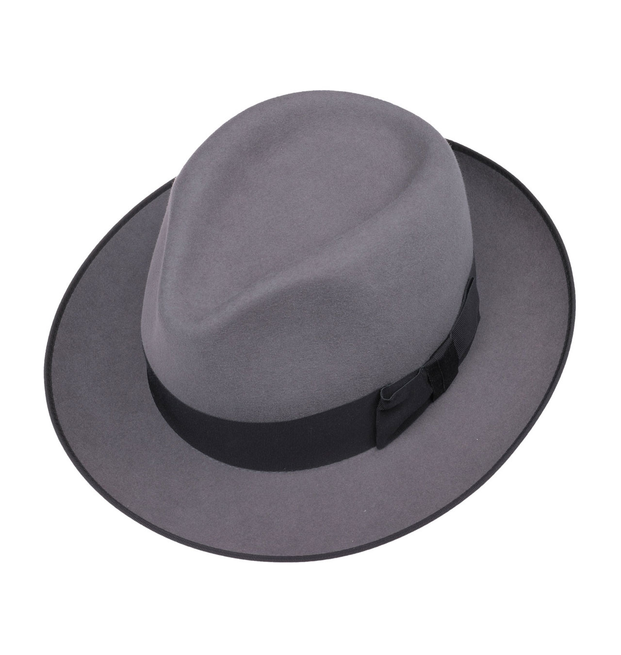 Stetson - Penn Fedora Fur Felt Hat - Grey ca913f589eb