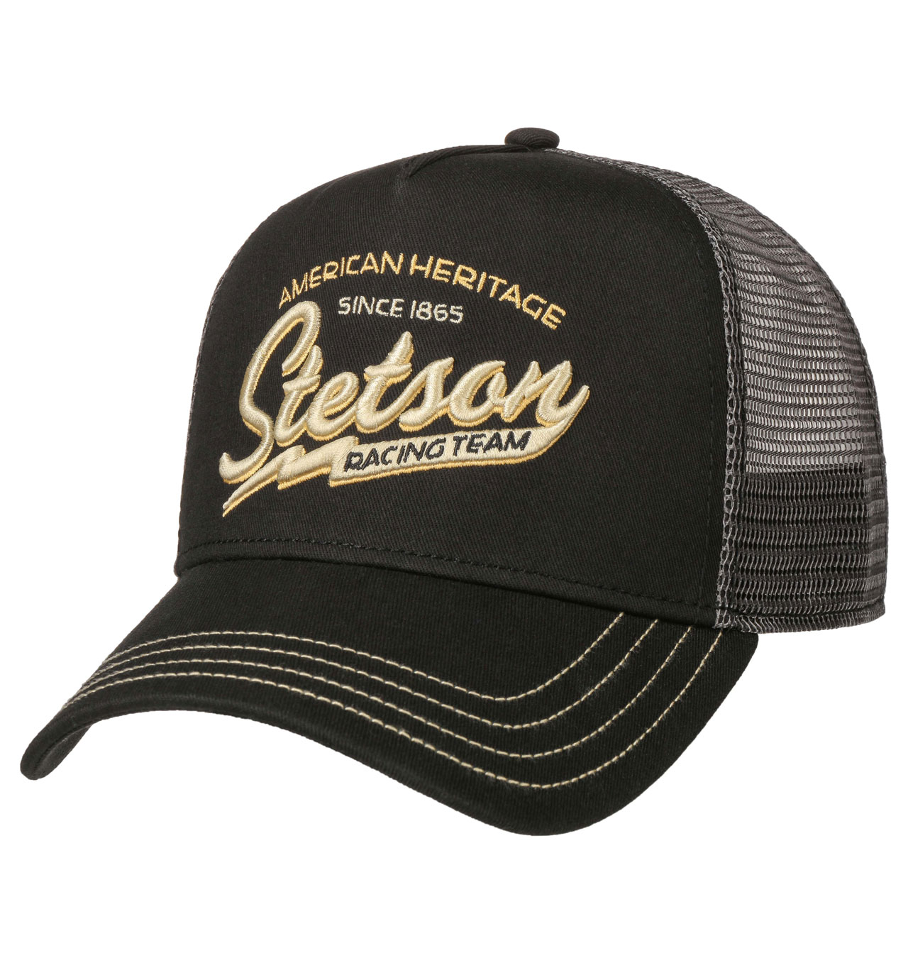Stetson - Racing Team Trucker Cap - Black
