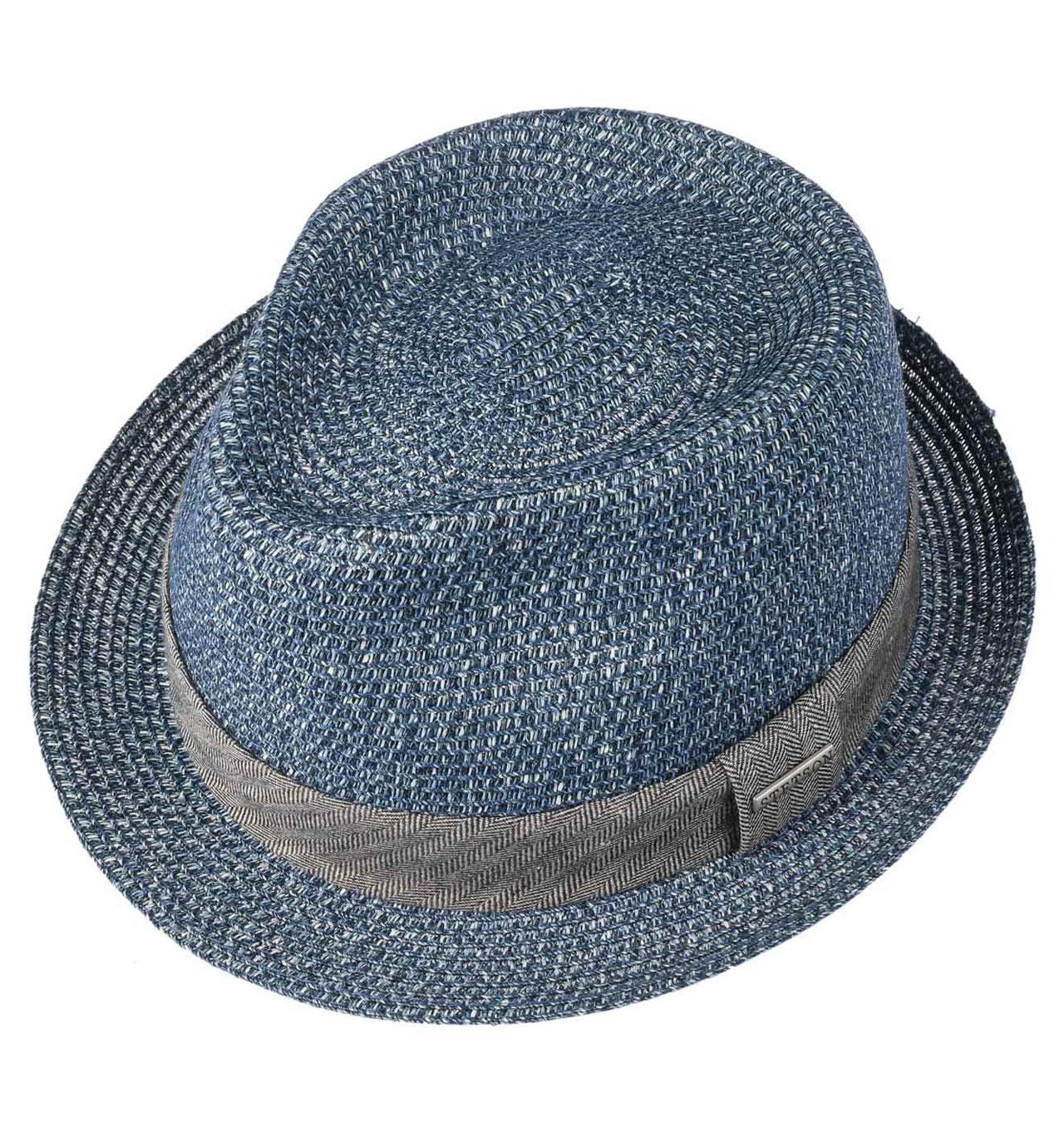 97d55de0 Stetson - Reidton Toyo Trilby Straw Hat - Blue