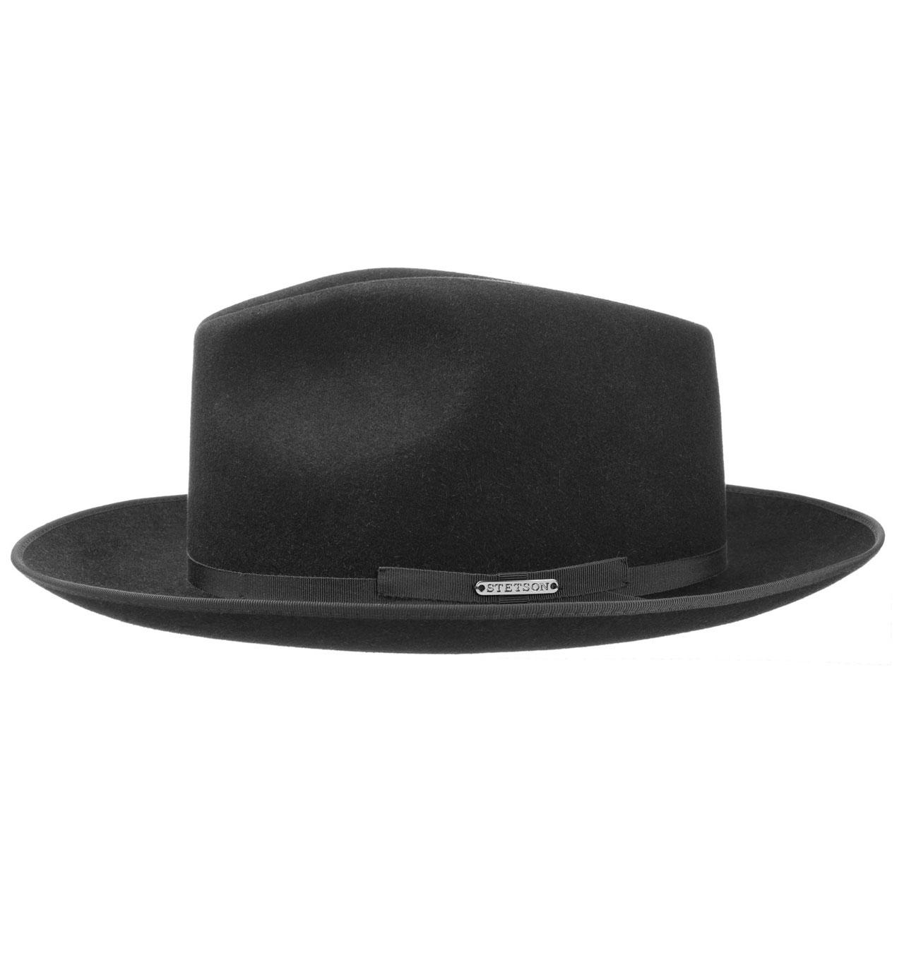 022733b9c Stetson - Stratoliner Fedora Fur Felt Hat - Black