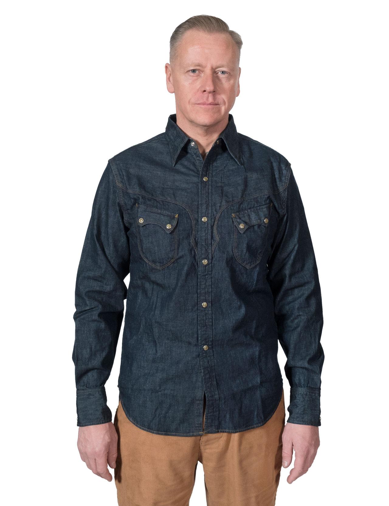 e72e102155 Stevenson Overall Co. - Cody Western Denim Shirt Indigo - 6.5oz