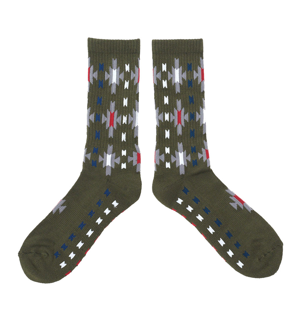 The-Ampal-Creative---Sun-Burst-Socks---Olive