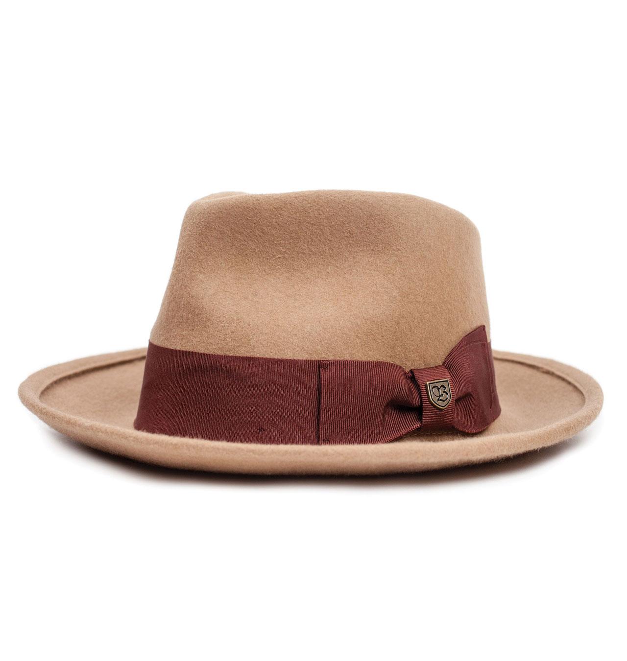 Brixton - Swindle Fedora Hat - Dark Tan 63f124633f6a