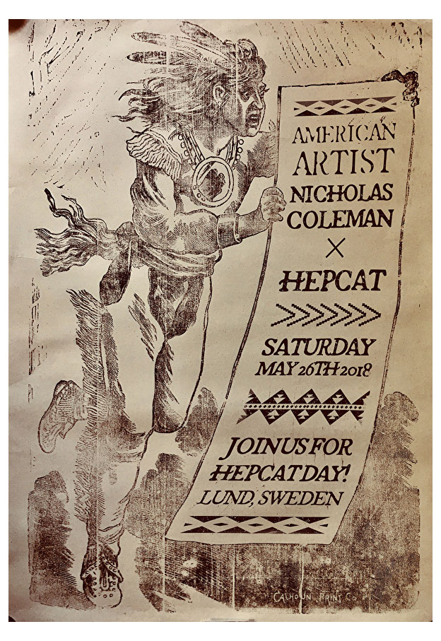 Nicholas Coleman X HepCat Day 2018 Poster (Signed)