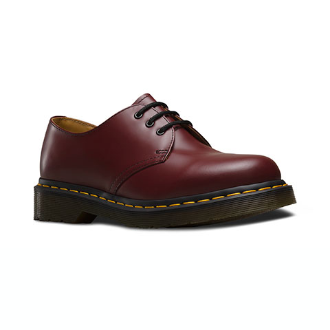 Dr Martens - 1461 3-Eye Shoe - Cherry Red Smooth