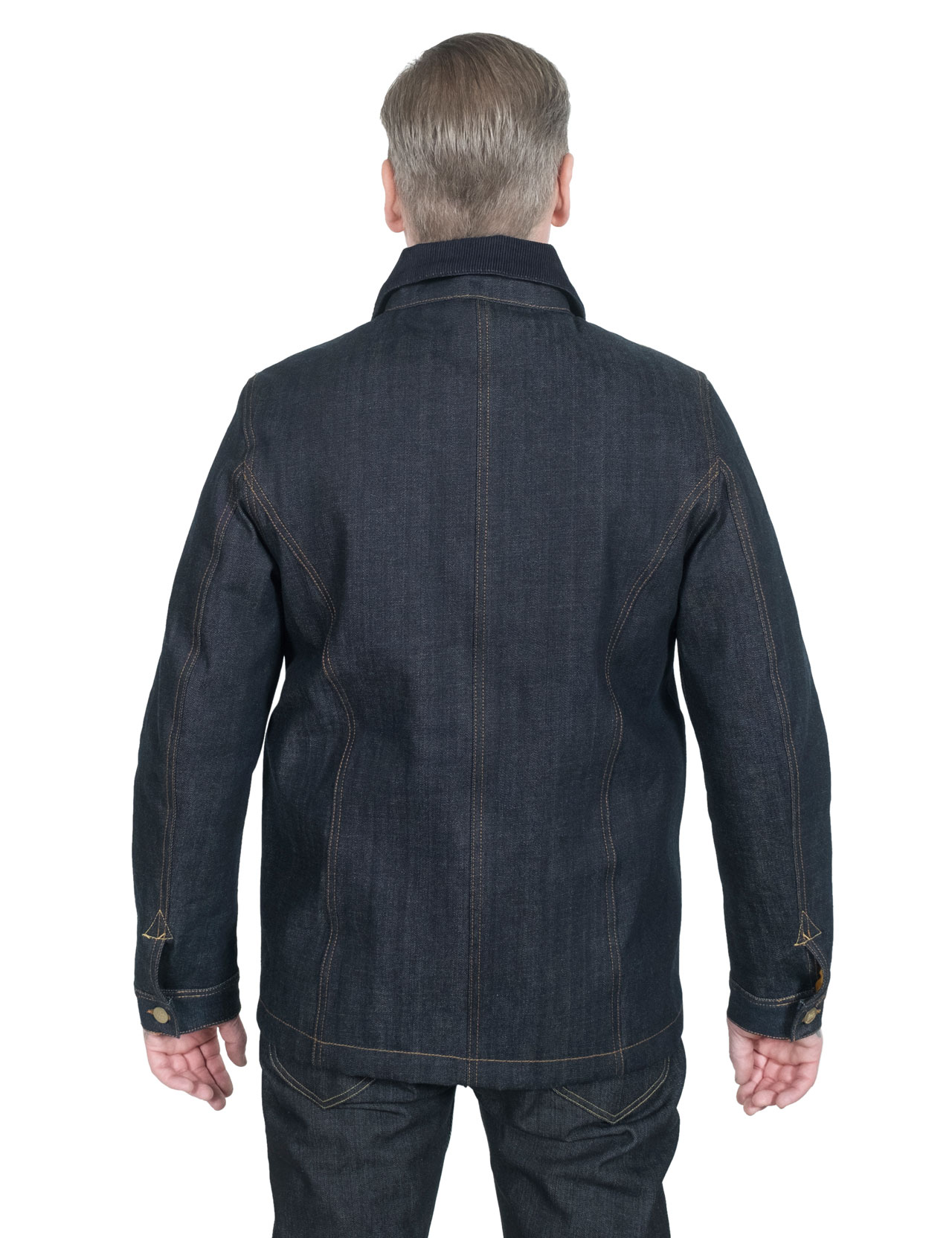 437870e38d4 Eat Dust - 673-B Apache Linned Raw Selvage Jeans Jacket