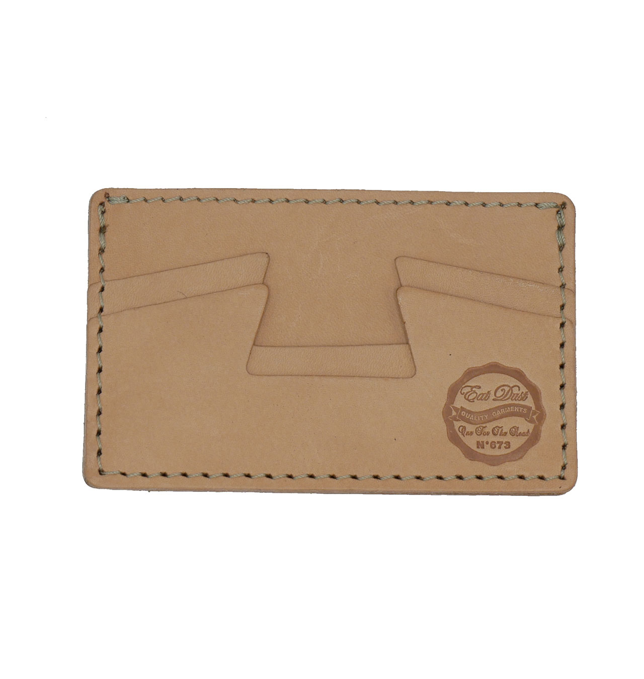 Eat Dust - Credit Card Holder Leather - Natur