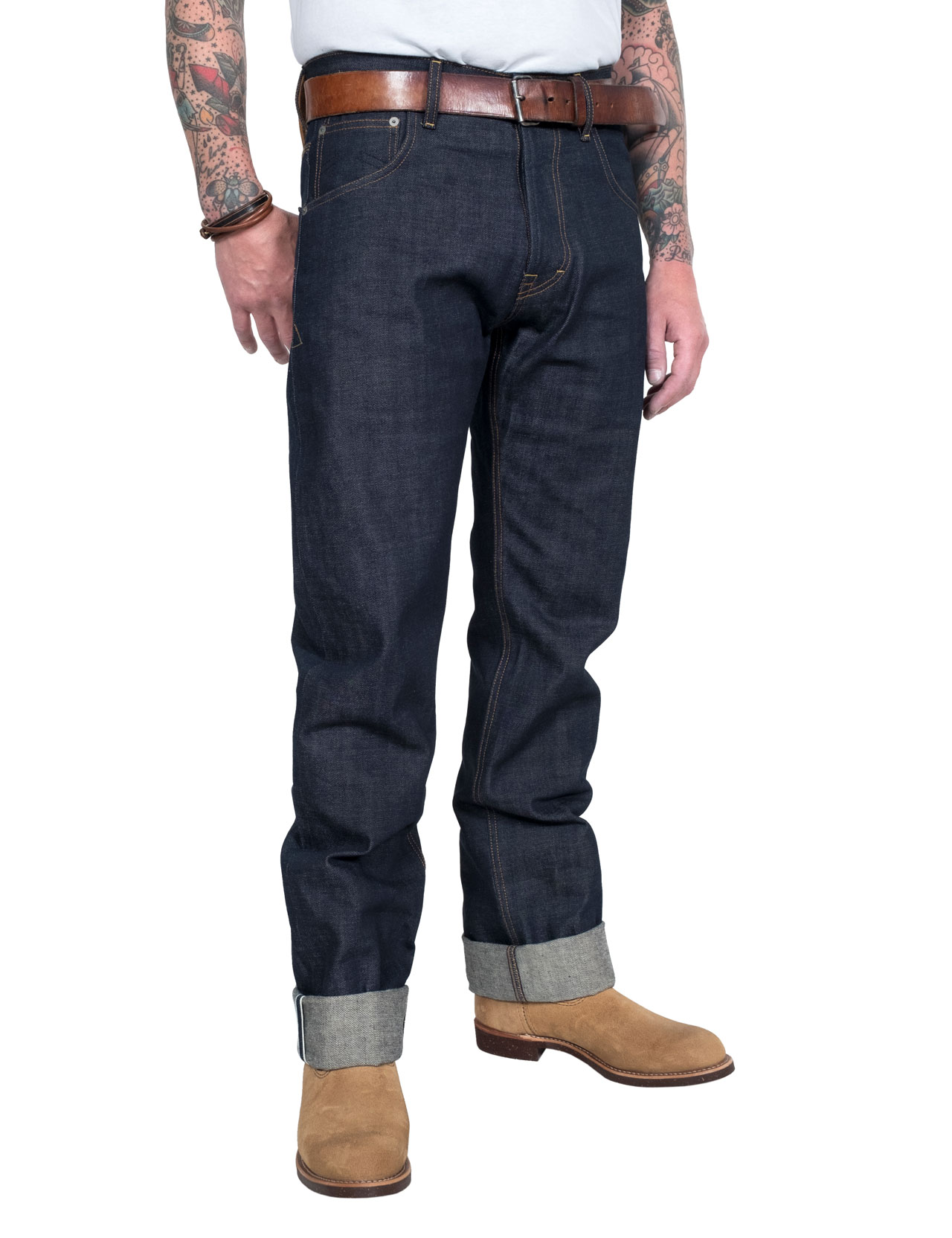 Eat Dust - Fit 67 Raw Selvage Jeans  - Indigo