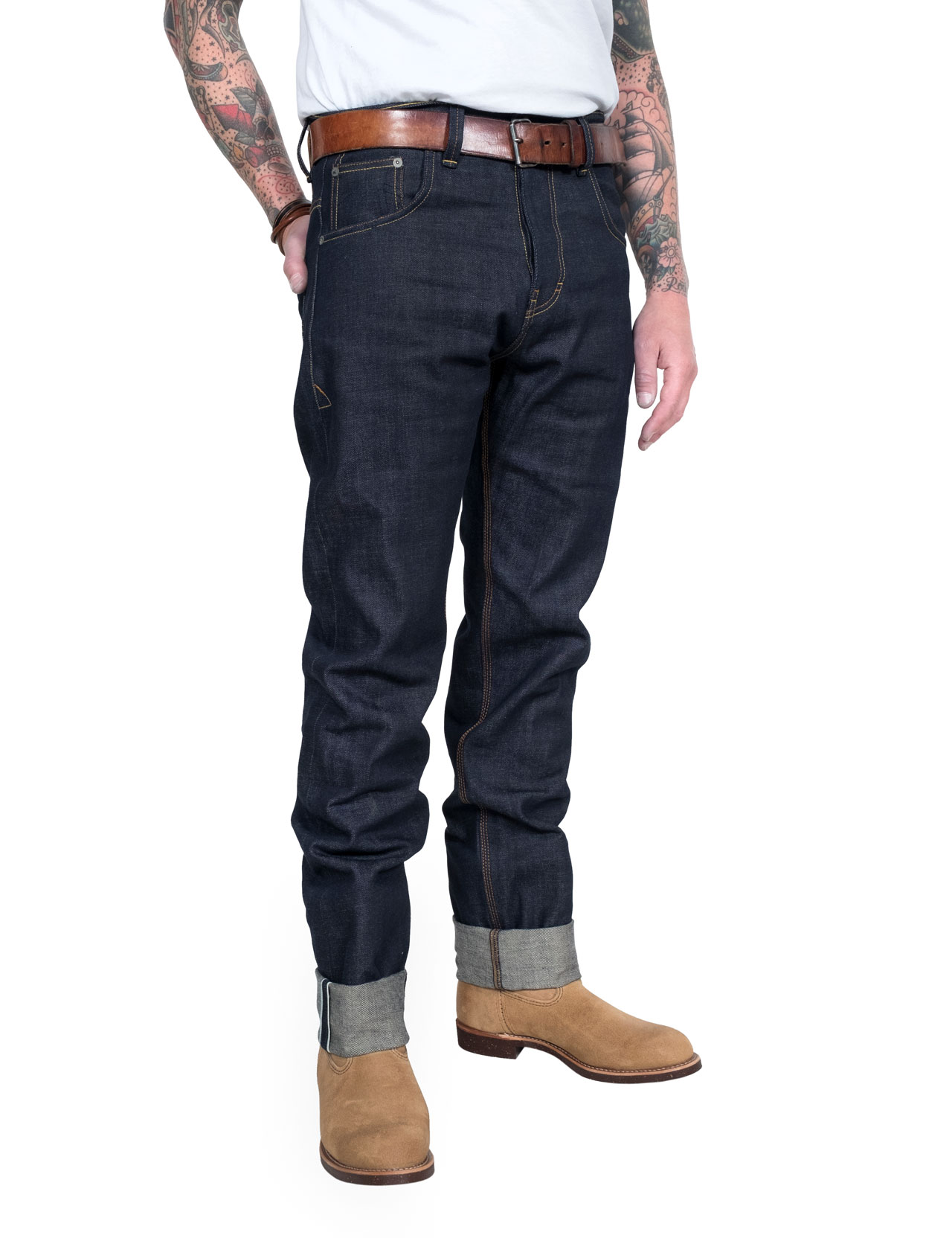 Eat Dust - Fit 73 Raw Selvage Jeans - Indigo