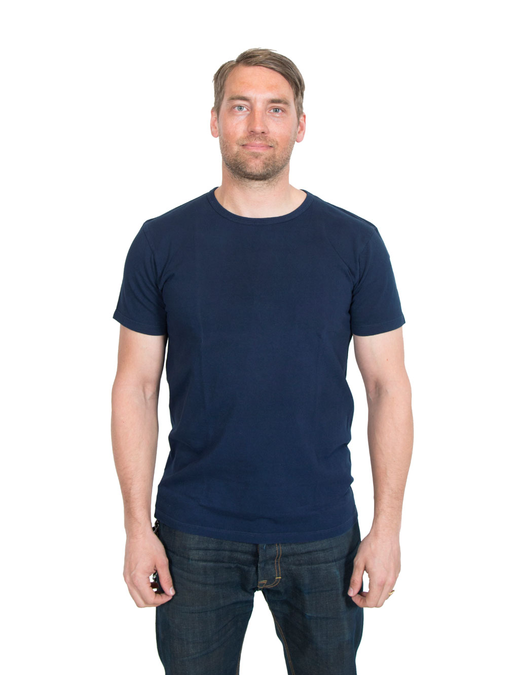 White t shirt company - Lady White Co Our Navy T Shirt Navy