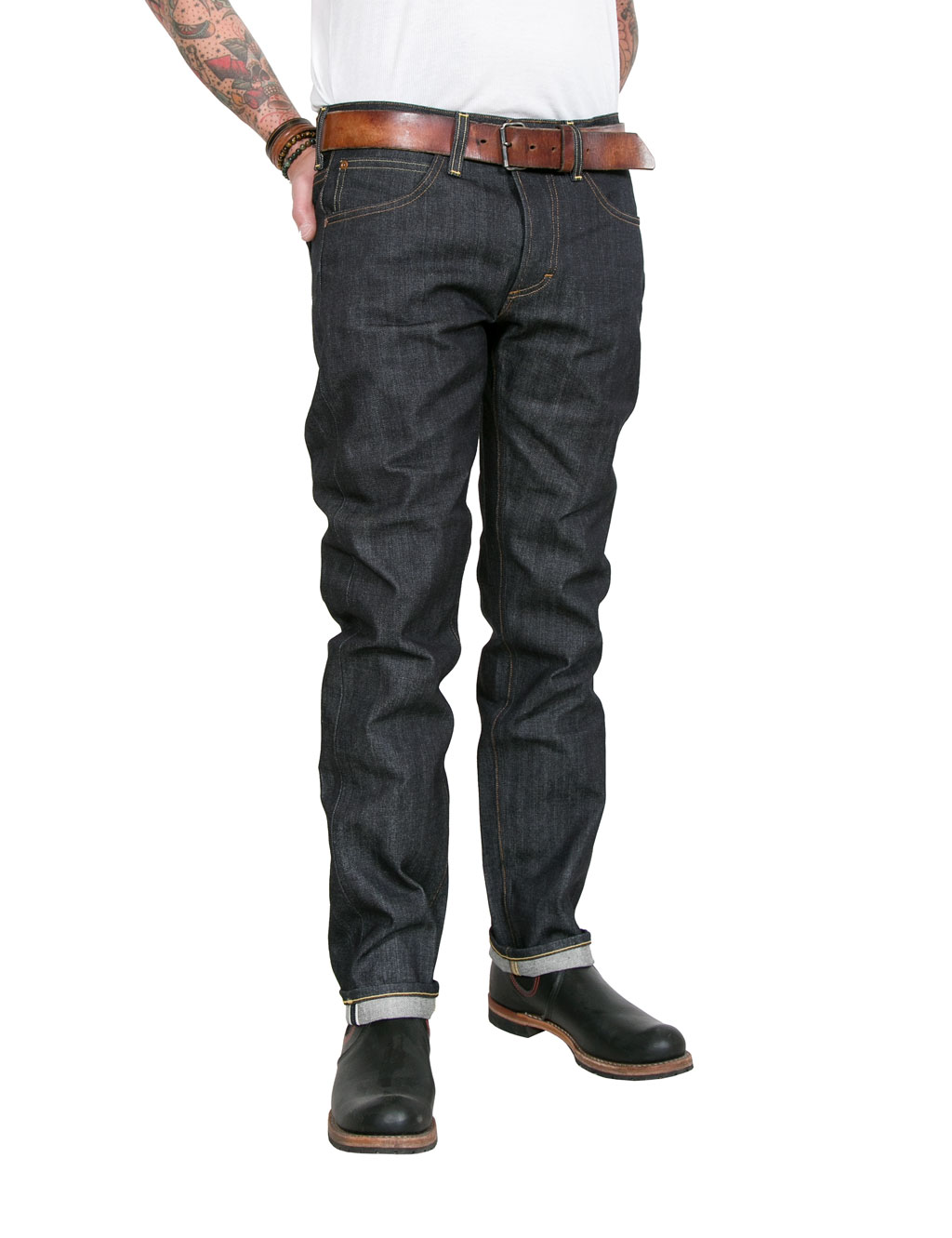 Lee - 101 S Regular Fit Raw Jeans Dry Selvage Denim - 13 3/4oz - Blue