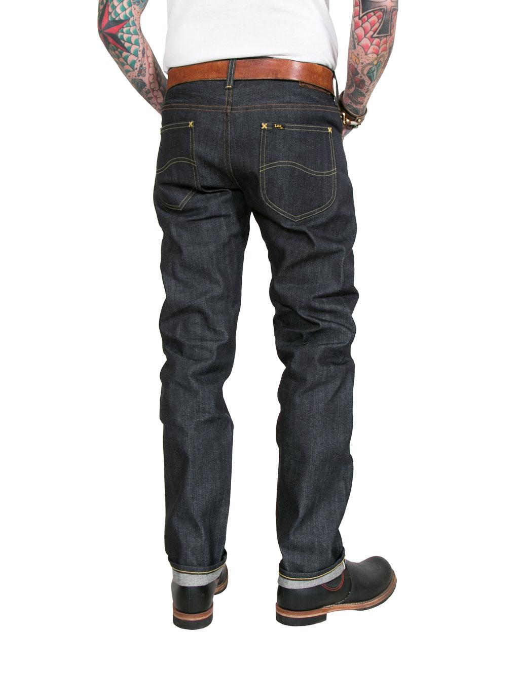 9fb0a16e Lee - 101 S Regular Fit Raw Jeans - Dry Selvage Denim - 13 3/4oz - Blu