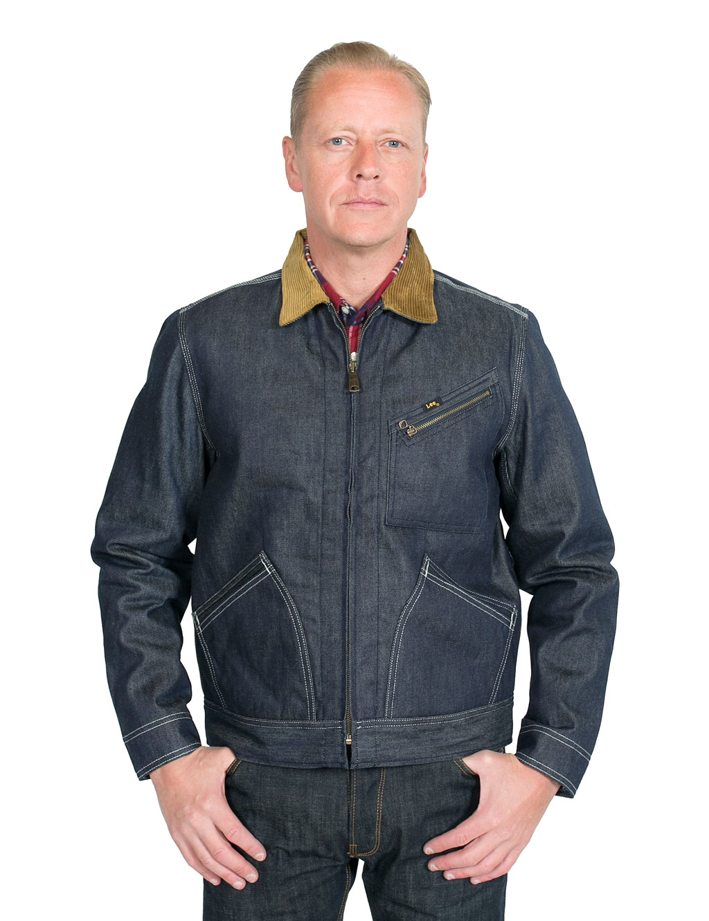 ... Lee - 101 Zip Jacket Dry Denim ...