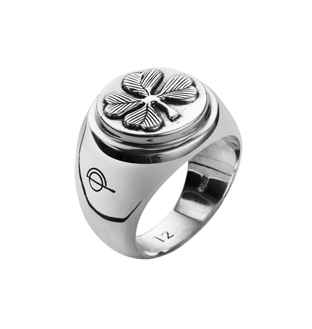 O.P Jewellery - Clover signet ring - Silver