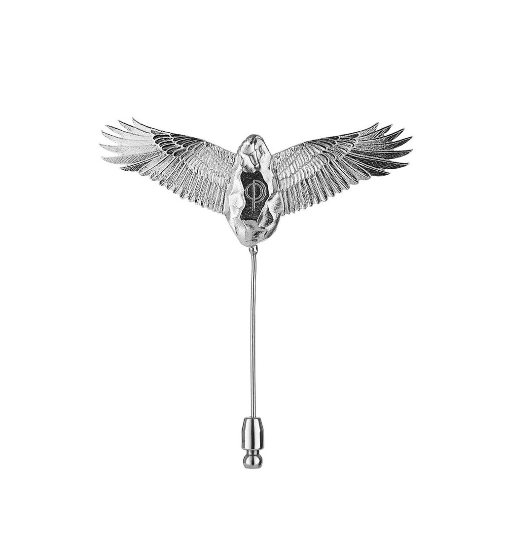 O.P Jewellery - Flying Stone Broche - Silver