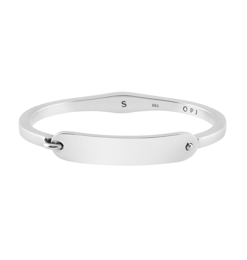 O.P Jewellery - Shackle Bangle - Silver