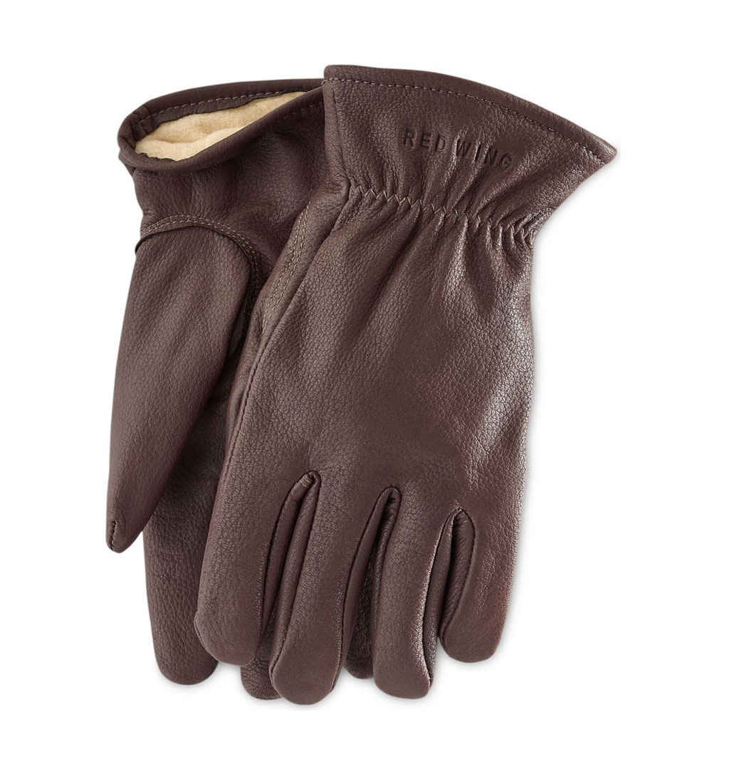 red-wing-Brown-Buckskin-Leather---Lined-Glove