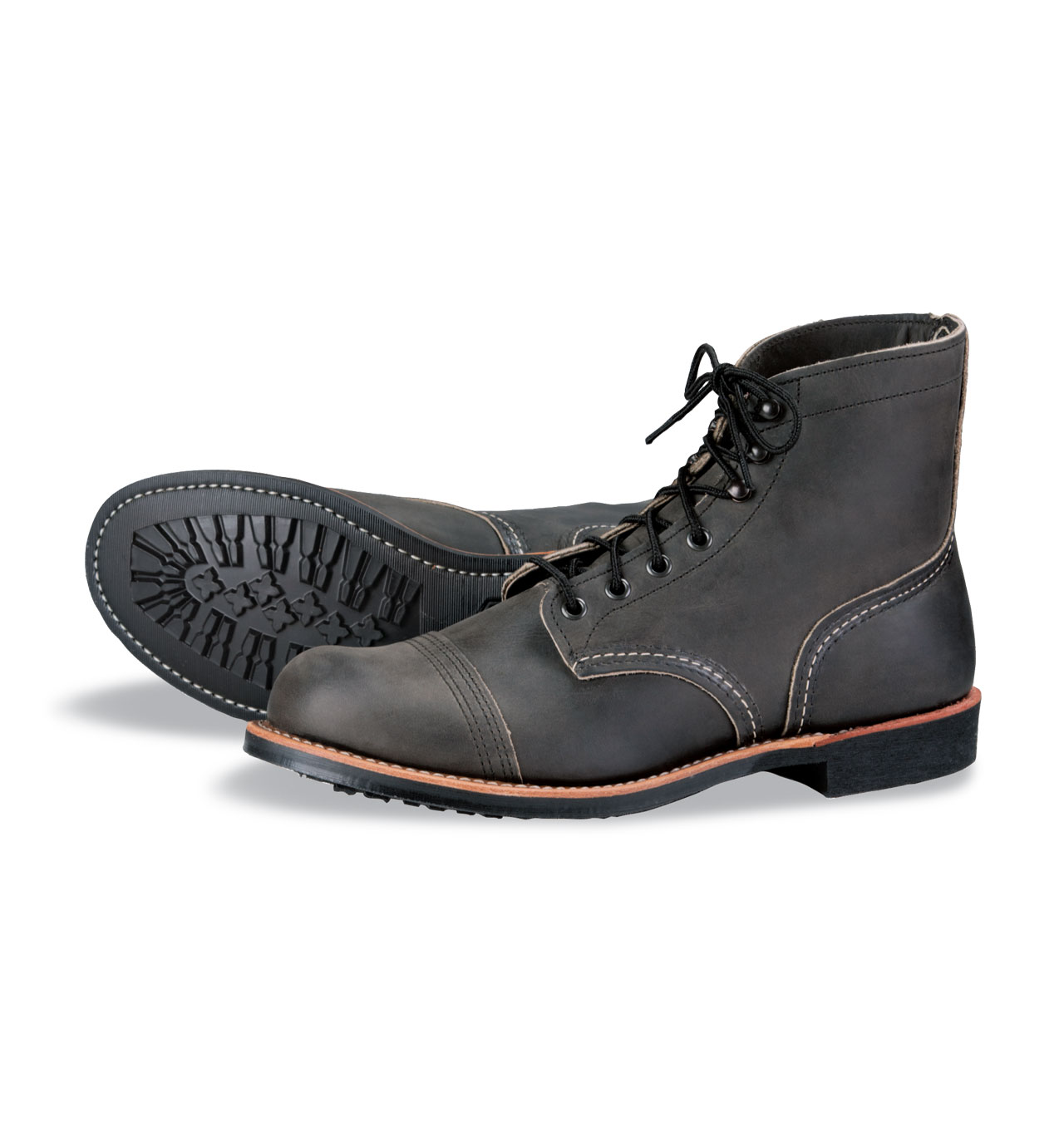 Red Wing Shoes 8086 Iron Ranger - Charcoal Rough & Tough Leather