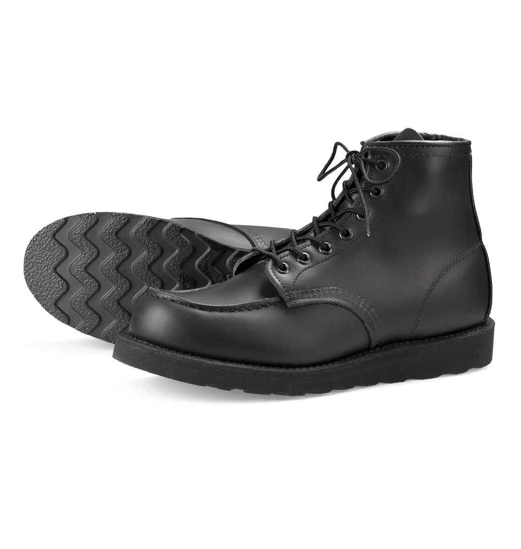 Red Wing Shoes 8137 6-inch Moc Toe - Black Skagway