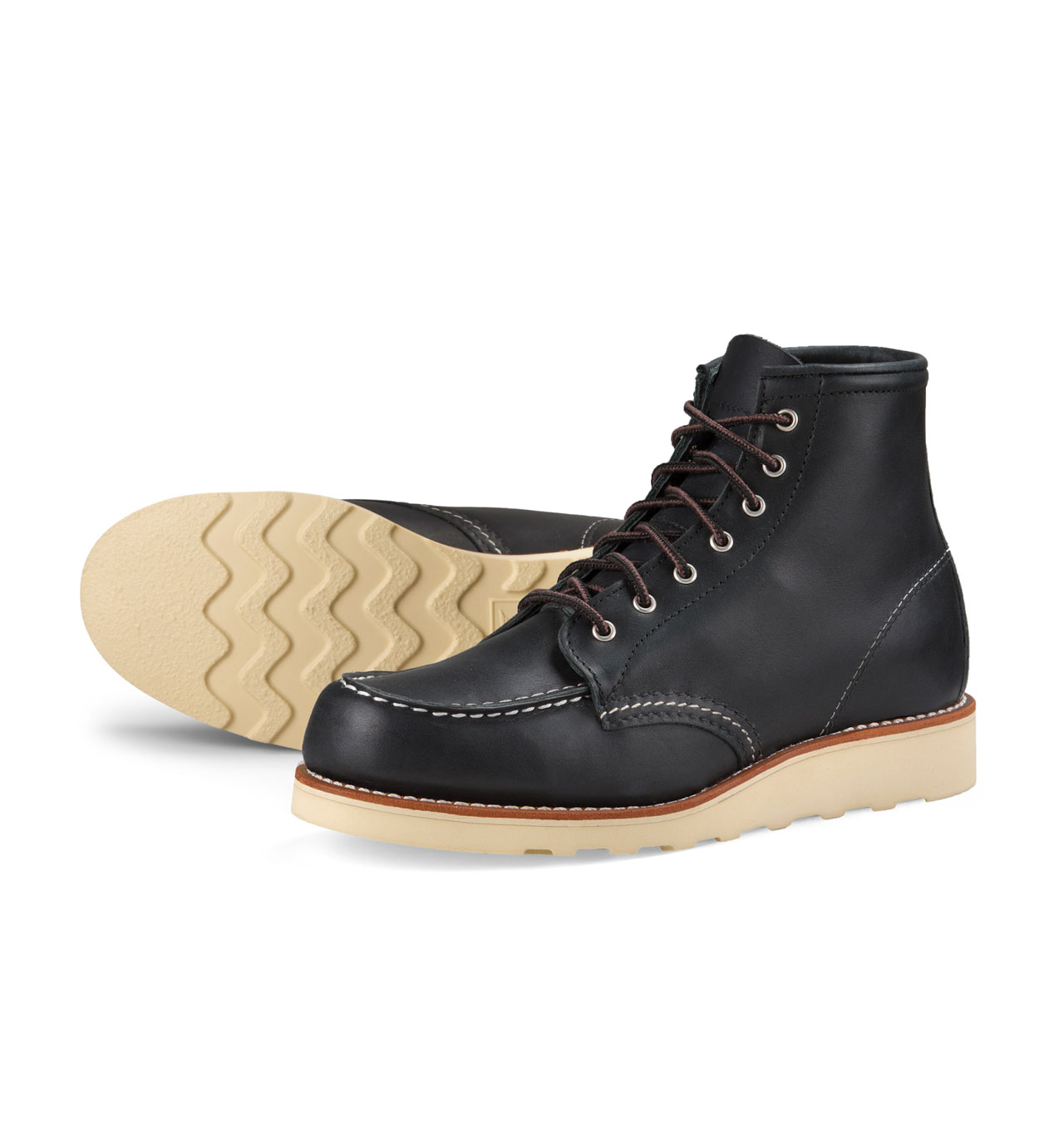 Red Wing Shoes Woman Style No 3373 6-Inch Moc Toe - Black Boundary Leather