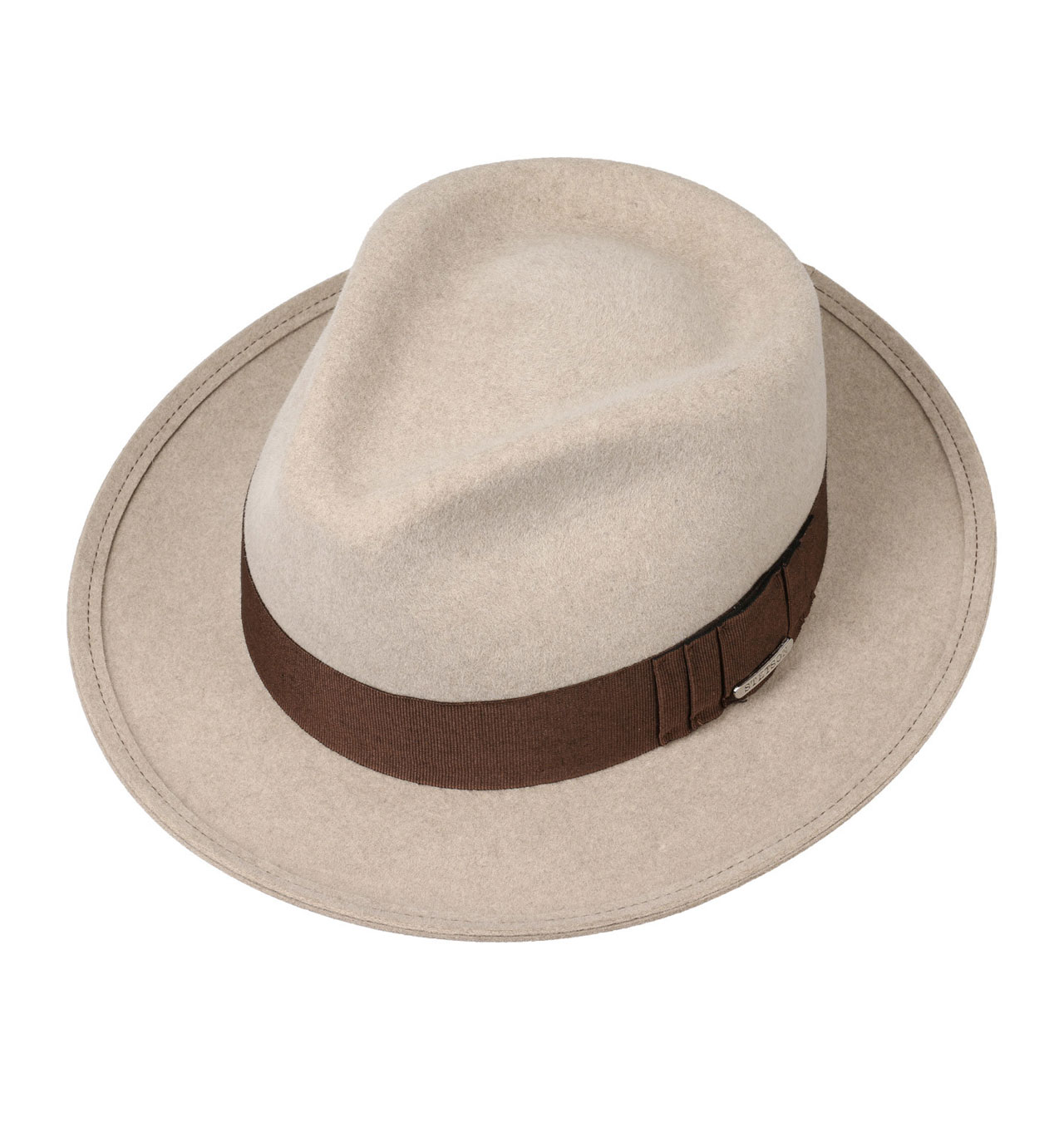 f4ecdc85764ca Stetson - New Orleans Fur Felt Fedora Hat - Oatmeal